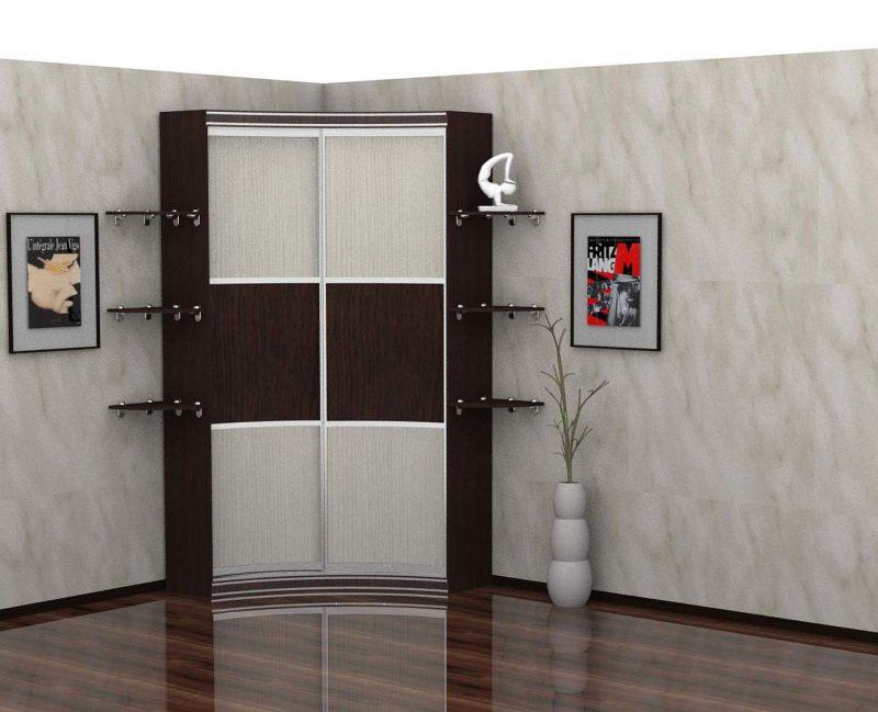 Радиусный шкаф венге