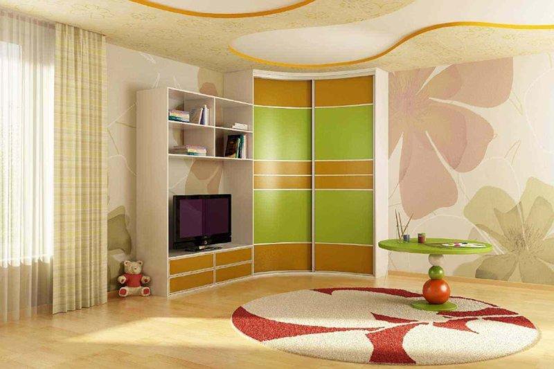 Встроенный шкаф в детской