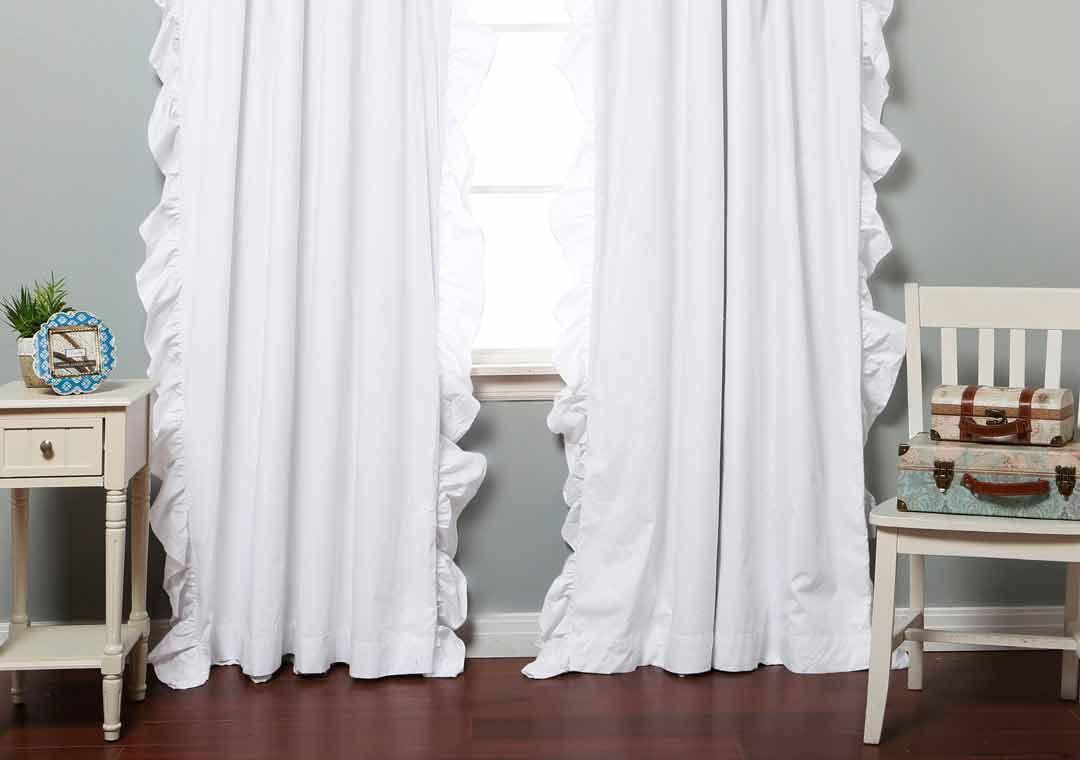 Белые шторы для девочки
