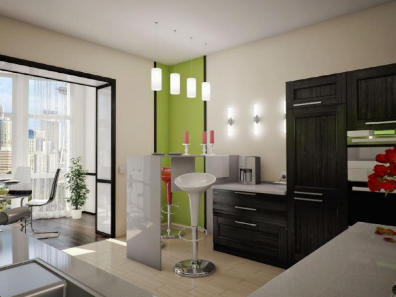кухня совмещенная с балконом виды интерьера