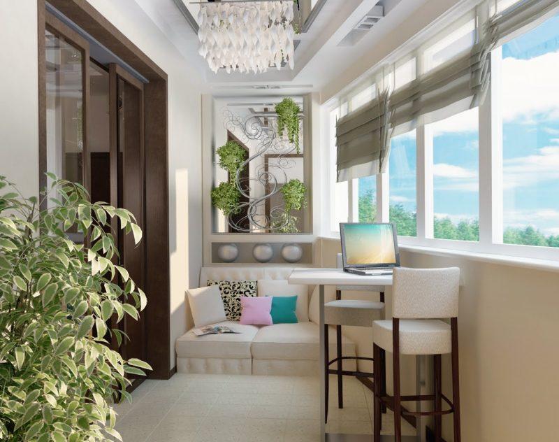 дизайн балкона для отдыха