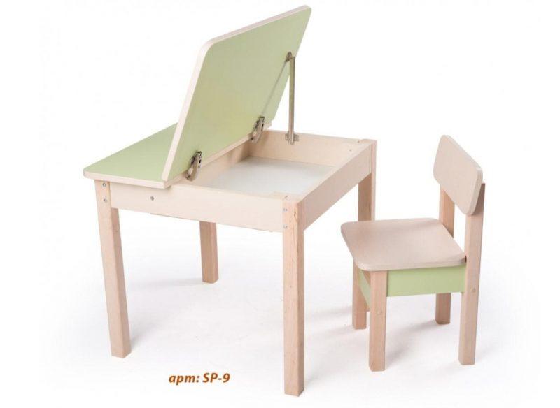 Стол и стул для ребенка от 2 лет