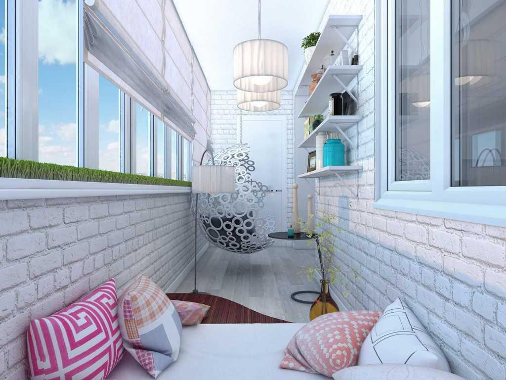 идея интерьера маленького балкона