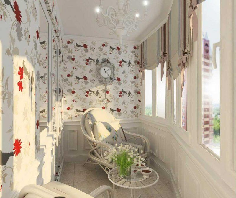 идея красивого маленького балкона