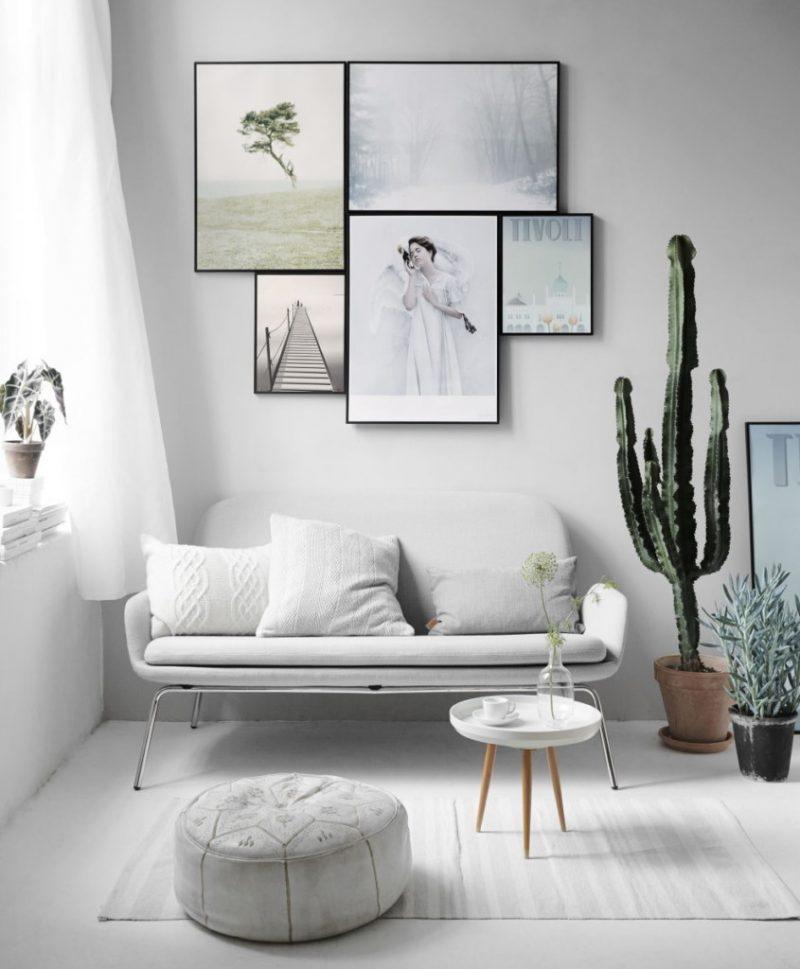 Строгий декор в гостиной минималистического стиля