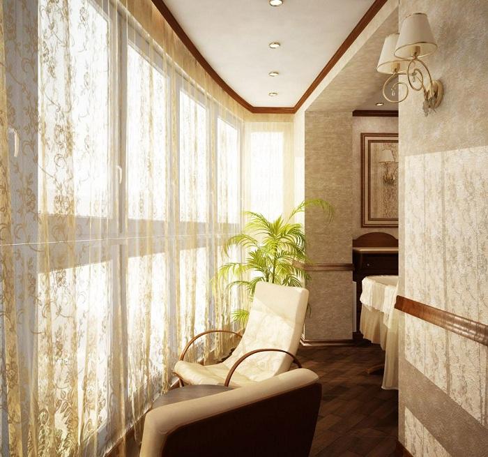 Мини-комната, которая появилась вследствие объединения лоджии и комнаты, специально для обдумывания планов.