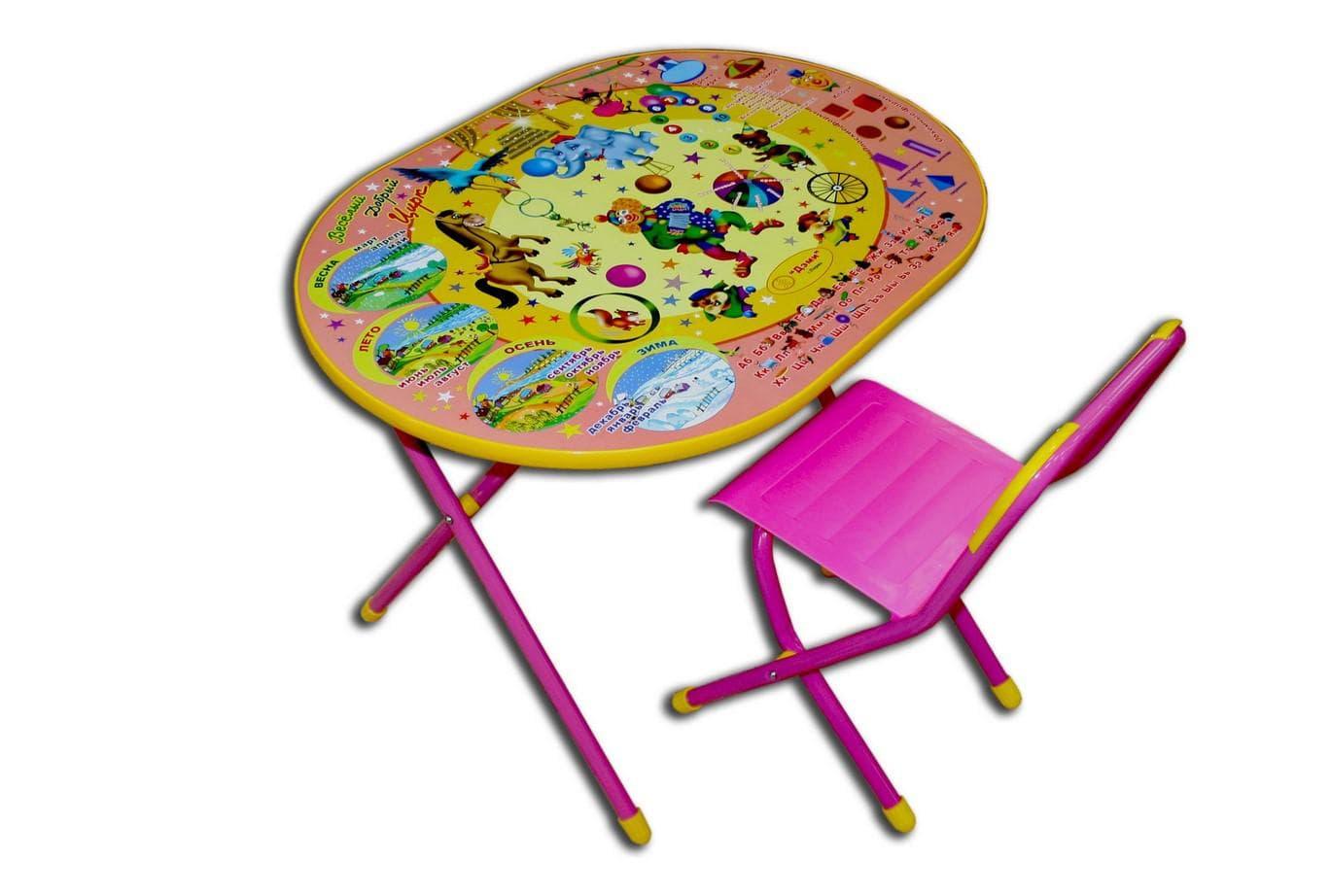Яркий развивающий стол для дошкольника