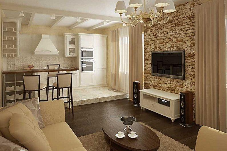 Дизайн маленькой гостиной - Отделка пола
