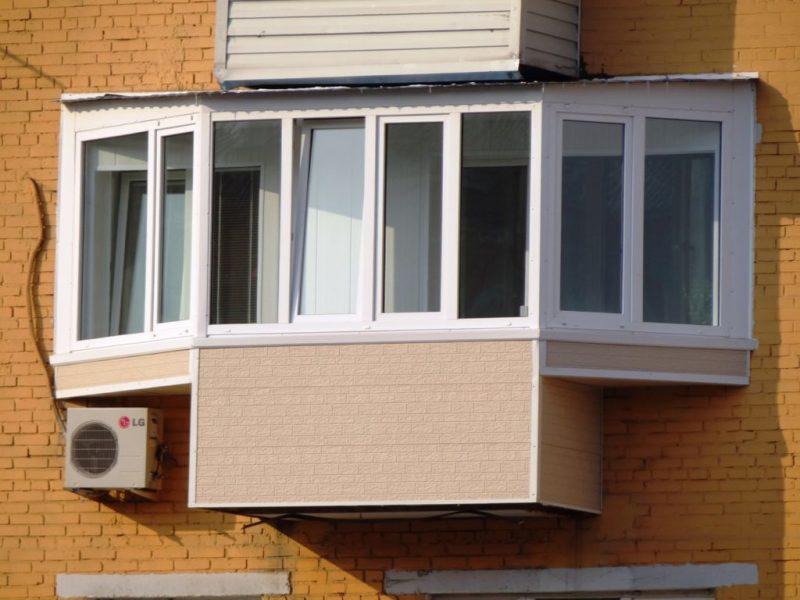 Балкон бабочка с выносом по уровню подоконника