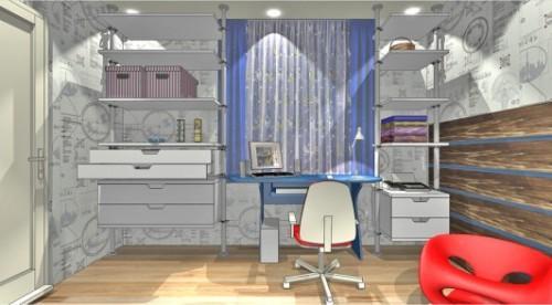 стол у окна в детской комнате фото