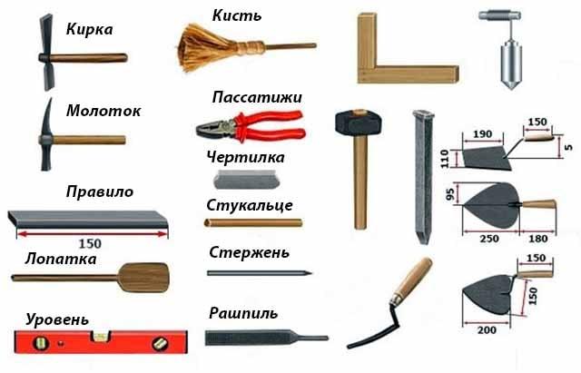 Инструментарий мастера печника