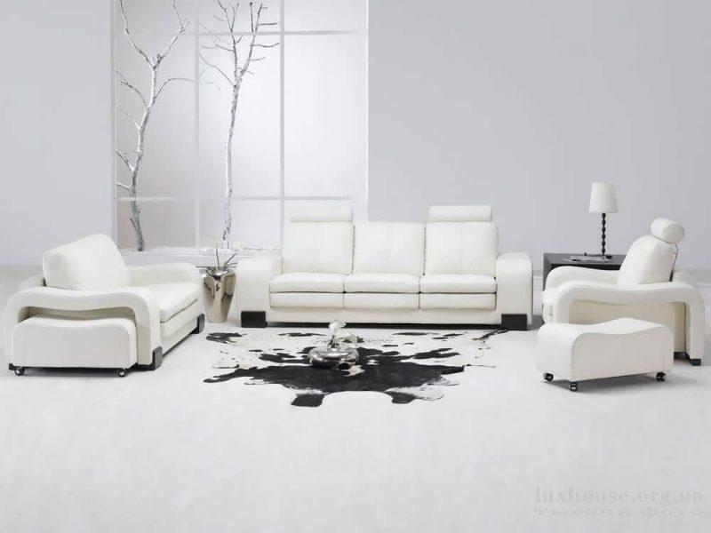 Мебель в белых тонаъ