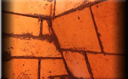 Образец укладки кирпичей изнутри
