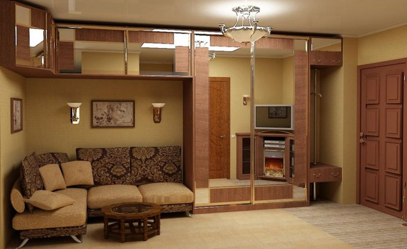 Стильная модель угловой мебели в гостиной