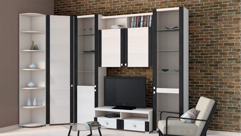Светлый вариант угловой современной мебели для гостиной