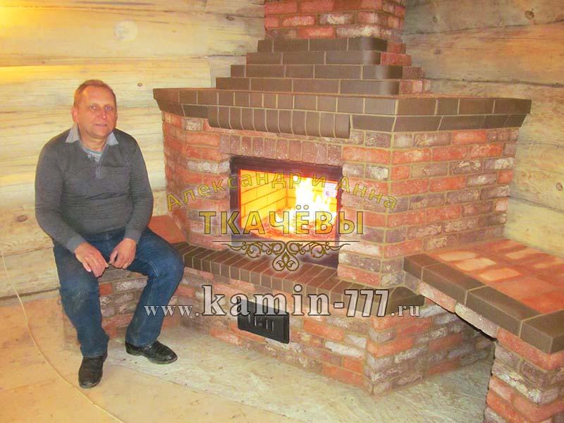Фото дровяного камина из кирпича для дома