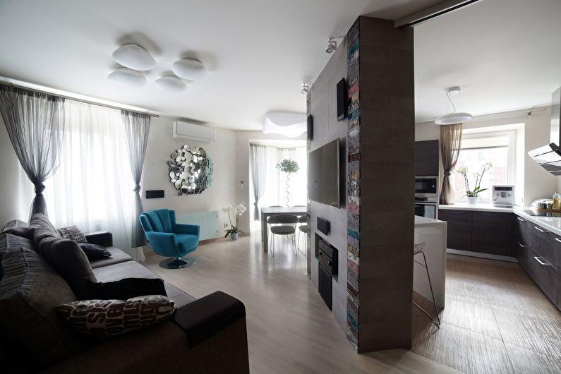 Дизайн гостиной - Отделка пола