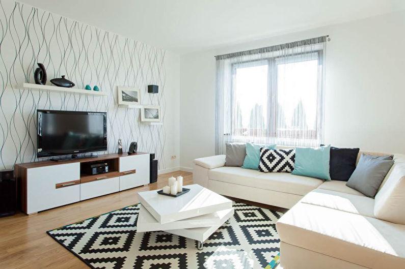 Дизайн гостиной - Отделка стен