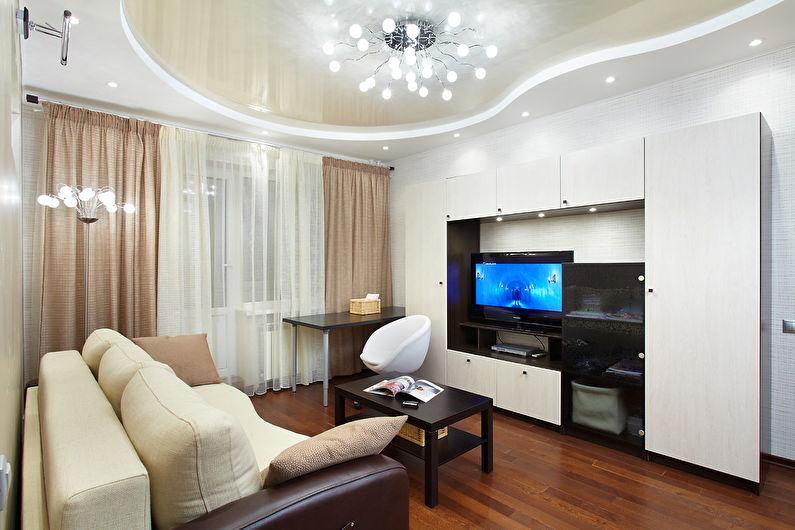 Дизайн гостиной - Отделка потолка