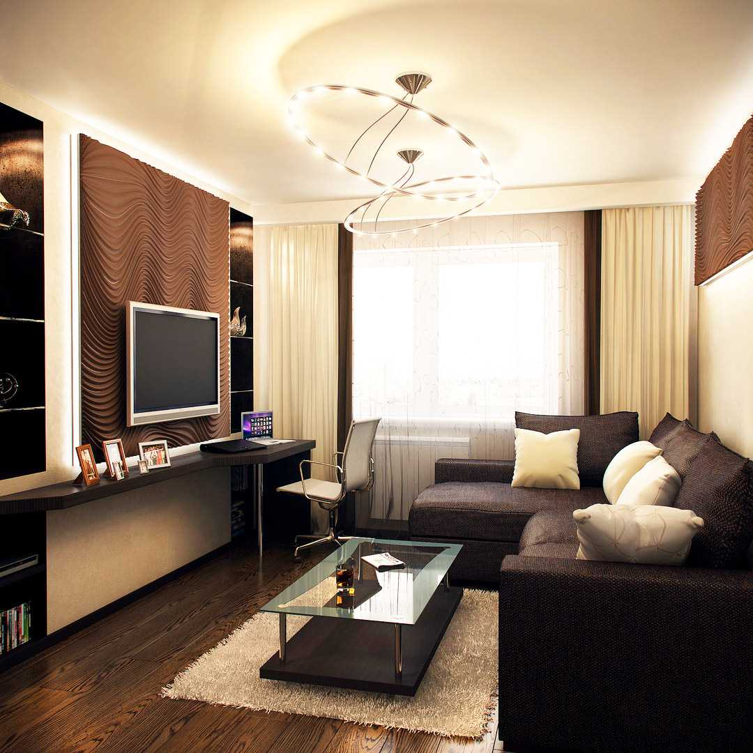 идея светлого декорирования гостиной своими руками